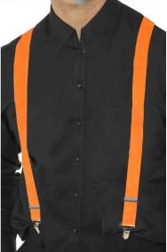 Bretelle per pantaloni arancioni fluo neon