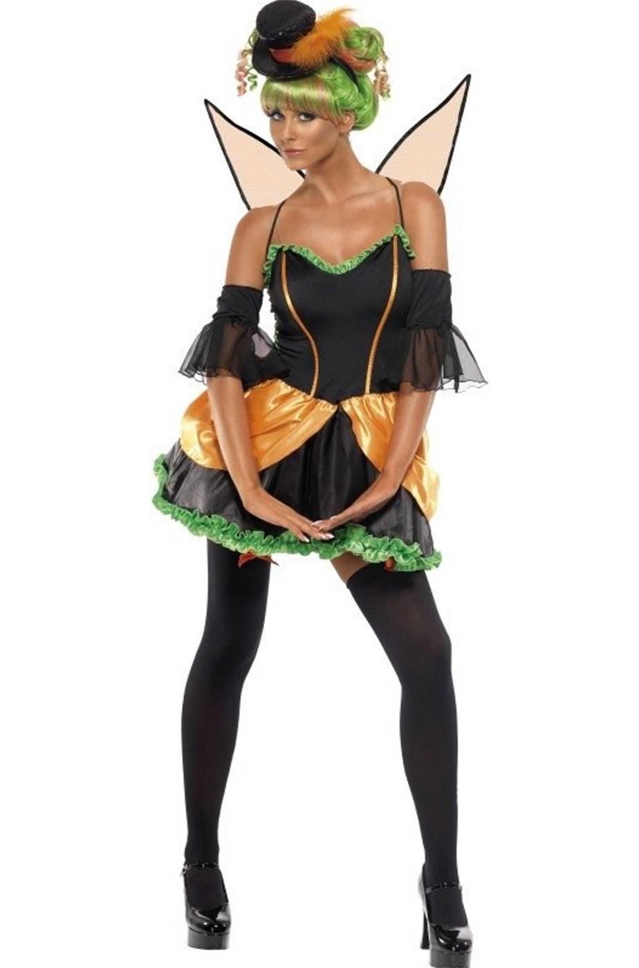 Costume carnevale o halloween donna fata zucca