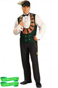 Costume di carnevale da uomo adulto Croupier scontato seconda scelta