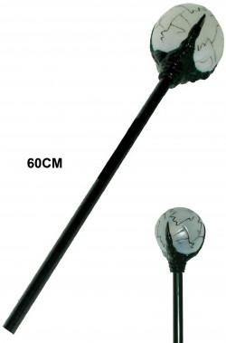 Bacchetta mago negromante Malefica malefizia con sfera 60 cm
