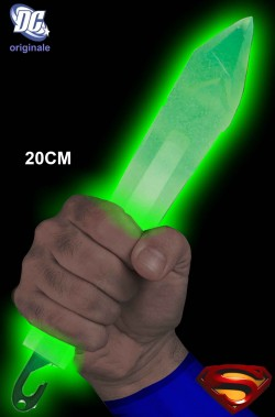 Cristallo di Kryptonite luminosa di Superman con luce lightstick