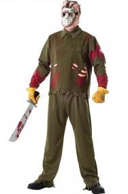 costume Halloween adulto Jason Voorhees di Venerdi' 13 adulto