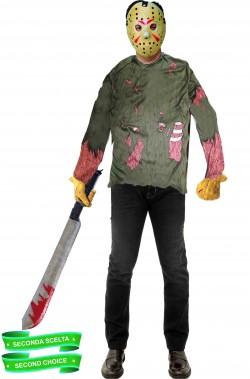 Set costume di Jason Voorhees di Venerdi' 13 pacchetto seconda scelta