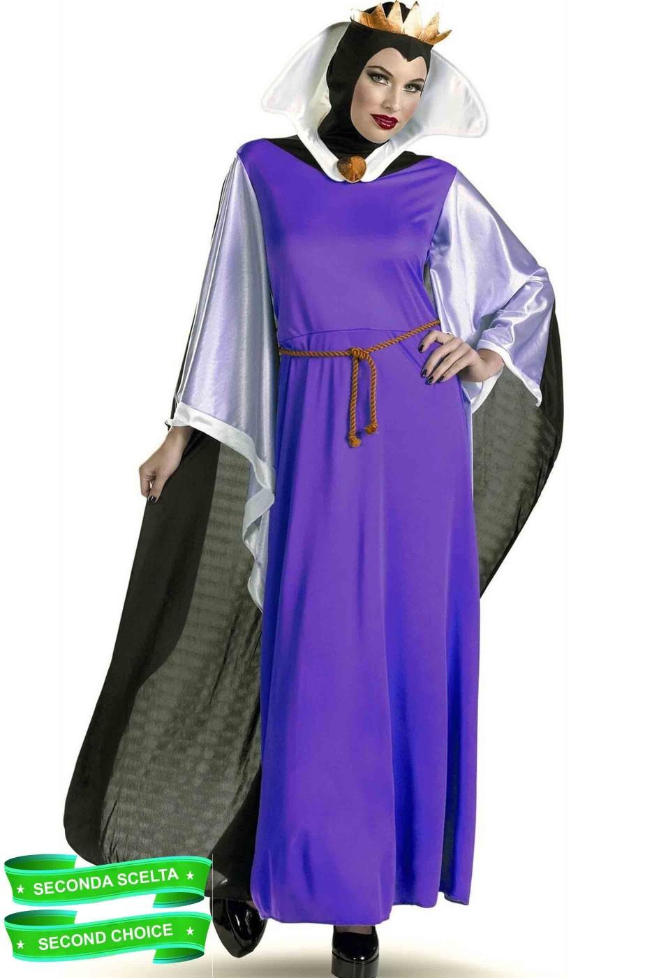 Costume di carnevale donna adulta Regina ravenna strega grimilde