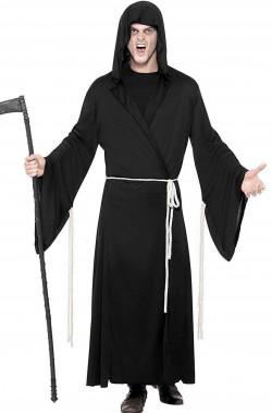 Costume tunica nera della morte, la grande mietitrice
