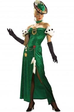Costume di carnevale da donna Roulette croupier dea del casino
