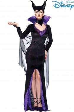 Costume Halloween di Maleficent nero lungo originale Disney