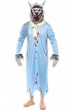 Costume Halloween adulto nonna Cappuccetto Rosso mangiata dal lupo