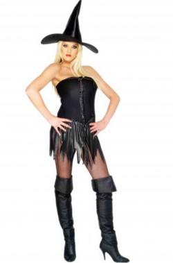 Vestito Halloween donna economico da strega nera