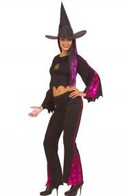 Costume Halloween da strega con top e pantalone donna adulta