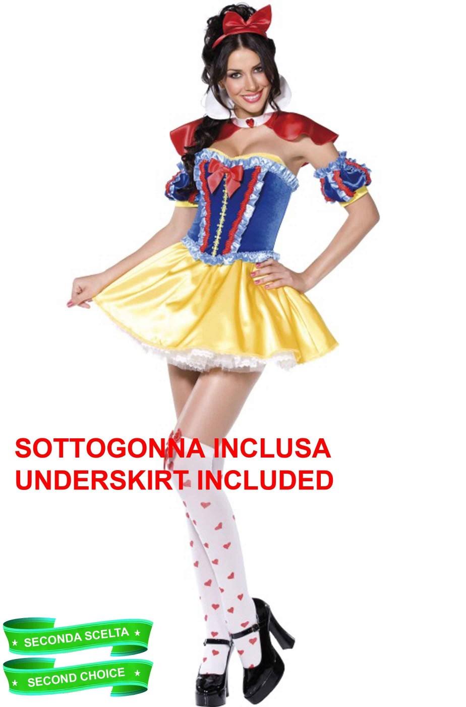 Costume carnevale donna Biancaneve Disney