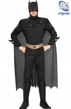 Costume Batman Nero The Dark Night Rises con cintura stampata
