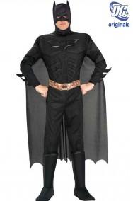 Costume Batman Nero The Dark Night Rises con cintura stampata