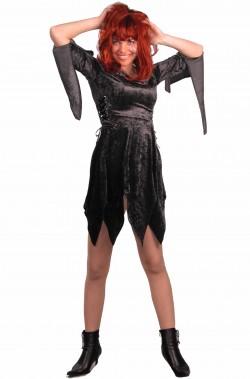 Costume da strega nero comodo donna adulta