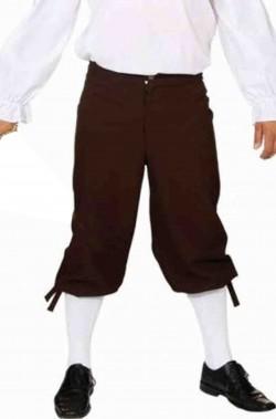 Pantaloni corti neri stile 700 uomo per pirata o barocco rococo