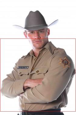 Camicia grigioverde da sceriffo americano adulto Rick Grimes Walking Dead