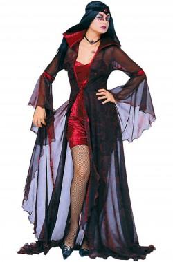 Costume Halloween diavolessa signora degli inferi rosso