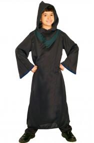 Tunica nera con finiture verde scuro per Halloween bambino