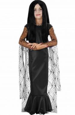 Costume Morticia bambina dal film La Famiglia Addams