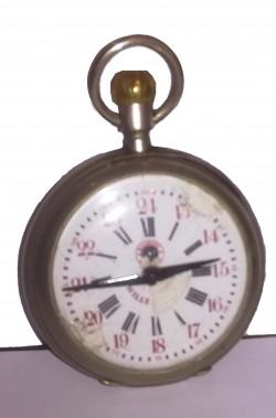 Orologio da taschino vintage stile anni 20 di metallo non funzionante oggetto di scena