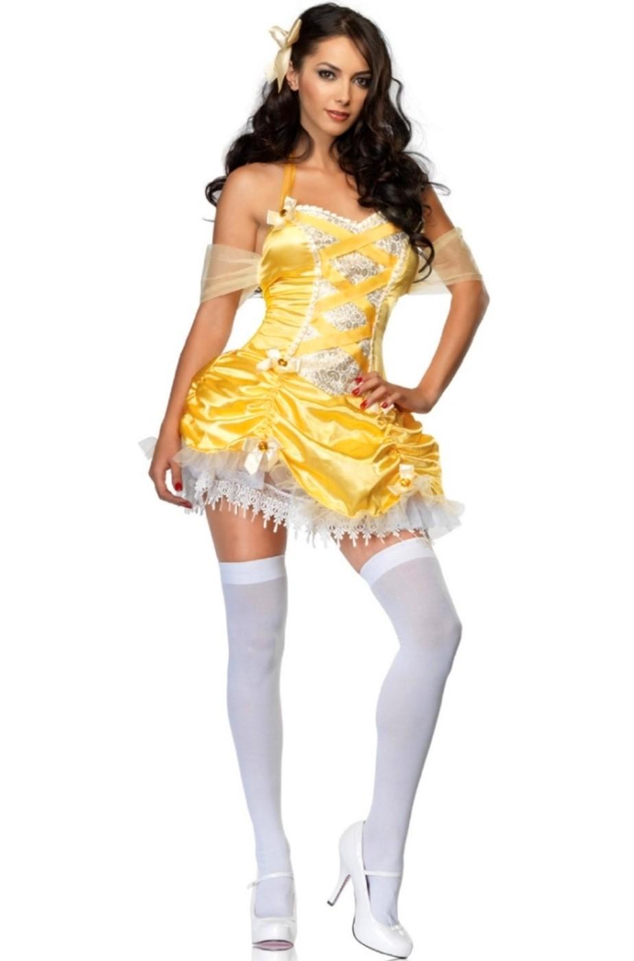 Costume di carnevale Belle de La Bella e La Bestia corto