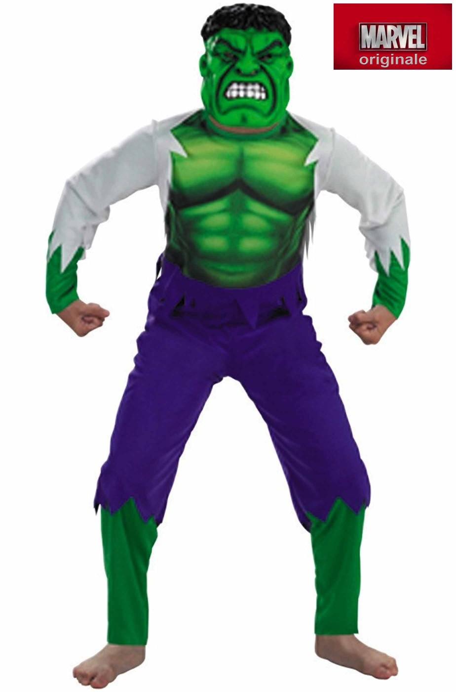 vestito di carnevale da Hulk bambino 5 7 anni