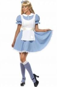 Costume di Alice nel Paese delle Meraviglie con grembiulino