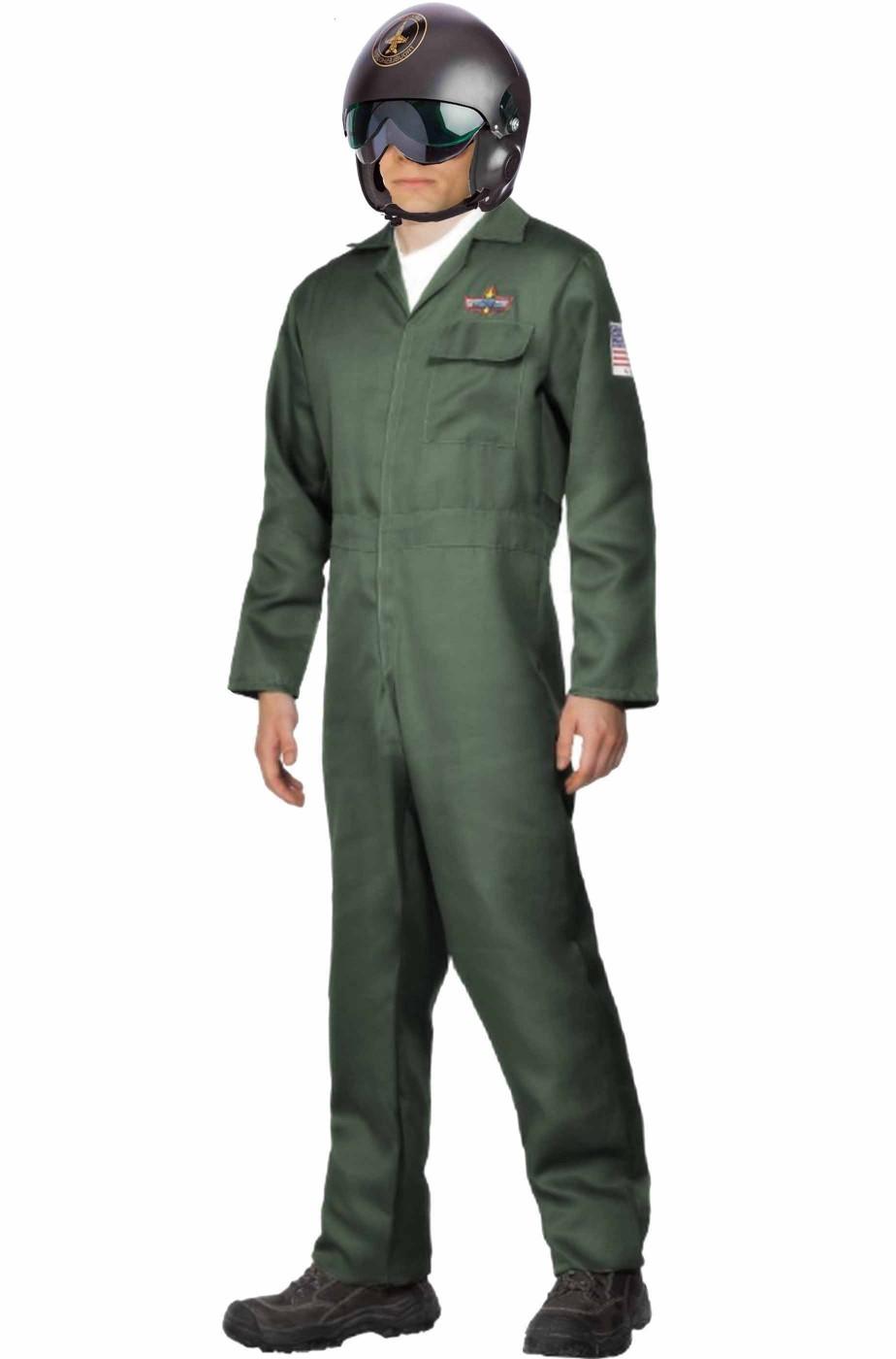 Costume top gun the maverick pilota da caccia con casco