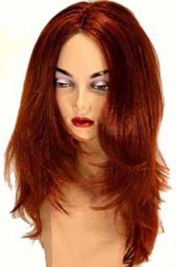 Parrucca donna lunga rosso ramato liscia