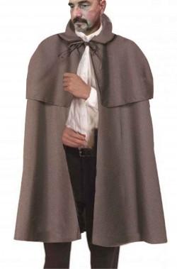 Mantella in stile vittoriano sherlock holmes grigia chiara