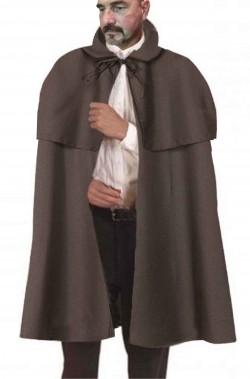 Mantella vittoriana doppia con mantellina grigia scura
