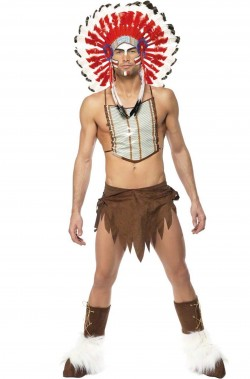 Costume di carnevale da capo indiano Village People