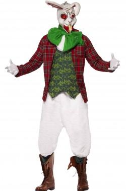 Costume Halloween adulto bianconiglio dell'orrore