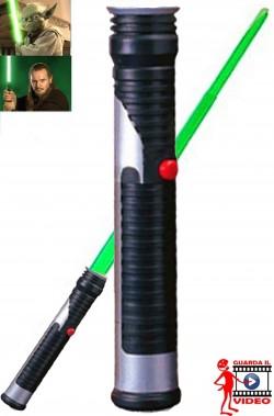 Spada Laser Jedi verde Star Wars Qui Gon Jin o Yoda