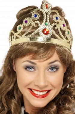 Corona da regina finta di plastica color oro