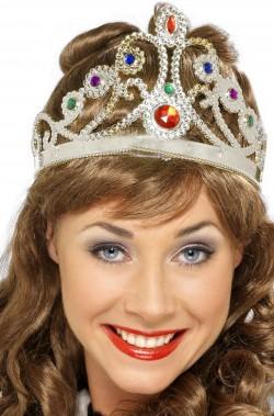 Corona da regina a tiara color argento