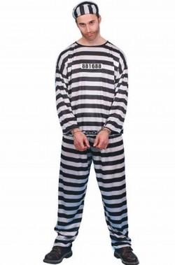 Vestito da carcerato uomo per carnevale