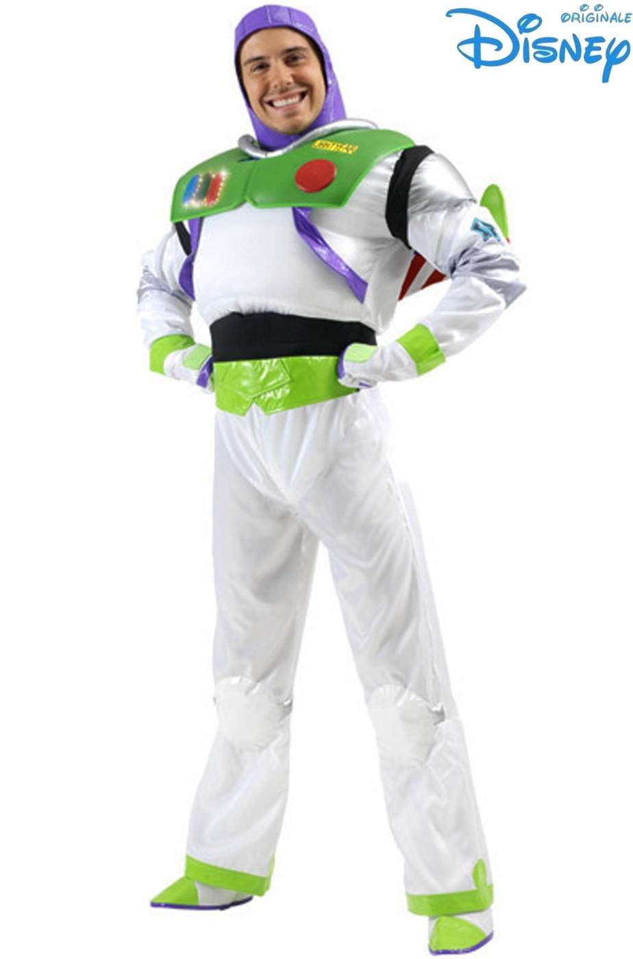Vestito di carnevale di Buzz Light Year originale Disney Adulto