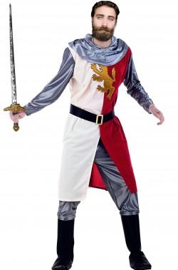 Vestito di carnevale da cavaliere di torneo medievale adulto