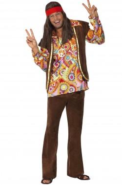Costume uomo anni 70 Hippie Psichedelico