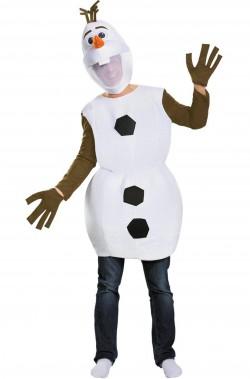 Vestito di carnevale mascotte Olaf di Frozen pupazzo di neve