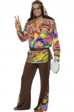 Vestito anni 70 psichedelico Hippie Style uomo