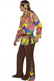 Abito anni 70 psichedelico Hippie Style uomo
