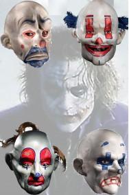 Gruppo maschere clown del Joker dal film Batman the Dark Knight
