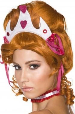 Parrucca rossa regina di cuori dama 700 con coroncina