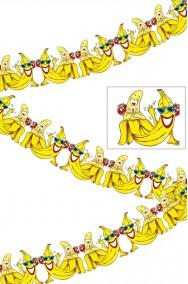Striscione festa tropicale banane porcelline 3m