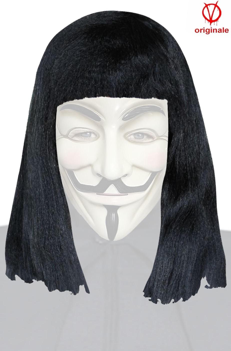 Parrucca originale V per Vendetta nera Guy Fawkes