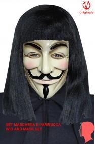 Set V per Vendetta maschera e parrucca originali