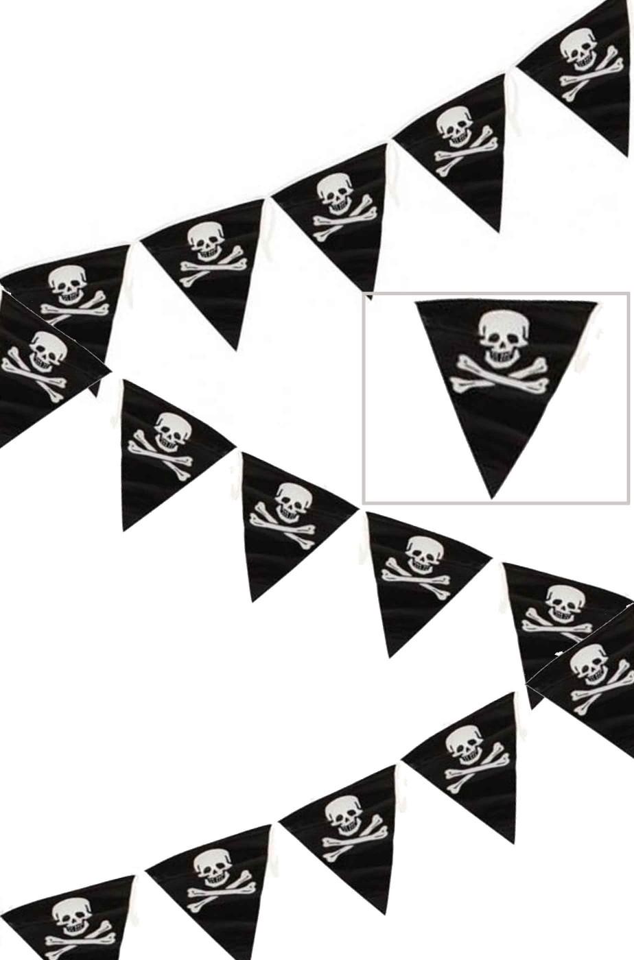 Striscione per festa pirati ed Halloween bandierine
