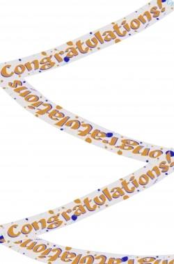 Striscione festa congratulazioni Congratulations in foil